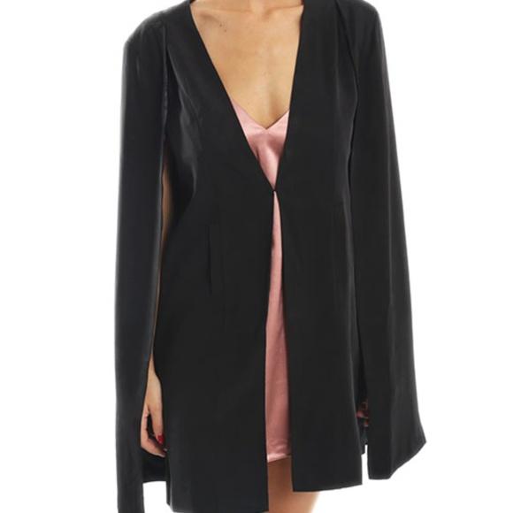 MINKPINK Jackets & Blazers - NWT Mink Pink girl boss longline black cape